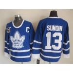 Men's Toronto Maple Leafs #13 Mats Sundin Blue 75TH Throwback CCM Jersey