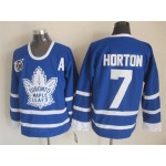 Men's Toronto Maple Leafs #7 Tim Horton Blue 75TH Throwback CCM Jersey