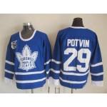 Men's Toronto Maple Leafs #29 Felix Potvin Blue 75TH Throwback CCM Jersey