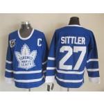 Men's Toronto Maple Leafs #27 Darryl Sittler Blue 75TH Throwback CCM Jersey