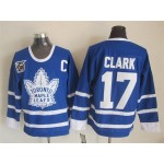 Men's Toronto Maple Leafs #17 Wendel Clark Blue 75TH Throwback CCM Jersey