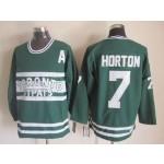 Men's Toronto Maple Leafs #7 Tim Horton Green Throwback CCM Jersey