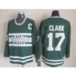 Men's Toronto Maple Leafs #17 Wendel Clark Green Throwback CCM Jersey