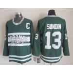 Men's Toronto Maple Leafs #13 Mats Sundin Green Throwback CCM Jersey