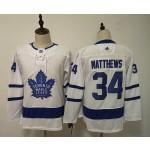 Women Tonrto Maple Leafs #34 Auston Matthews White Adidas Jersey