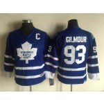 Youth Toronto Maple Leafs #93 Doug Gilmour blue Throwback CCM jersey