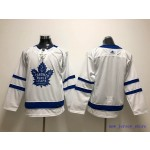 Youth Tonrto Maple Leafs Blank White Adidas Jersey