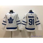 Youth Tonrto Maple Leafs #91 John Tavares White with C patch Adidas Jersey