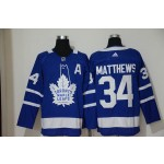 Youth Tonrto Maple Leafs #34 Auston Matthews Blue with A patch Adidas Jersey