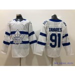 Youth Tonrto Maple Leafs #91 John Tavares White 2018 Stadium Series Adidas Jersey