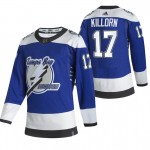 Tampa Bay Lightning #17 Alex Killorn Blue Men's Adidas 2020-21 Reverse Retro Alternate NHL Jersey