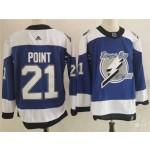 Tampa Bay Lightning #21 Brayden Point Blue 2020-21 Reverse Retro Jersey