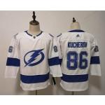 Youth Tampa Bay Lighting #86 Nikita Kucherov White Adidas Jersey