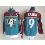NHL Throwback Anaheim Ducks Paul Kariya #9 Green 1990's Alternate Jersey