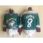 NHL Throwback Anaheim Ducks Teemu Selanne #8 Green 1995 Wild Wing Jersey