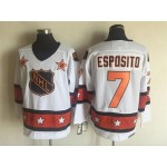 NHL All Star Game throwback Phil Esposito #7 White jersey