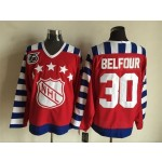 NHL All Star Game throwback Ed Belfour #30 Red 75th jersey