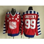 NHL All Star Game throwback Wayne Gretzky #99 Red 75th jersey