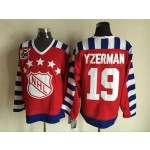 NHL All Star Game throwback Steve Yzerman #19 Red 75th jersey
