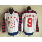 NHL All Star Game throwback #9 White jersey