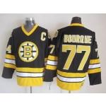 Men's Boston Bruins #77 Ray Bourque 1981-82 Black CCM Vintage Throwback Jersey