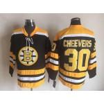 NHL Boston Bruins #30 Gerry Cheevers Black CCM Vintage Throwback Jersey