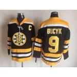 NHL Boston Bruins #9 Johnny Bucyk Black CCM Vintage Throwback Jersey