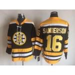 NHL Boston Bruins #16 Derek Sanderson Black CCM Vintage Throwback Jersey