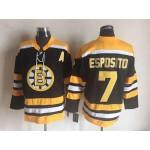 NHL Boston Bruins #7 Phil Esposito Black CCM Vintage Throwback Jersey