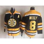 NHL Boston Bruins #8 Cam Neely Black CCM Vintage Throwback Jersey