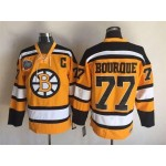 NHL Boston Bruins #77 Ray Bourque Yellow Throwback Jersey
