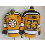 NHL Boston Bruins #33 Zdeno Chara Yellow Throwback Jersey