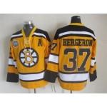NHL Boston Bruins #37 Patrice Bergero Yellow Throwback Jersey