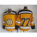 NHL Boston Bruins #77 Ray Bourque 1959-60 Yellow CCM Vintage Throwback