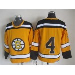 NHL Boston Bruins #4 Bobby Orr 1959-60 Yellow CCM Vintage Throwback