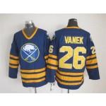 Men's Buffalo Sabres #26 Thomas Vanek Navy Blue CCM Vintage Throwback Jersey