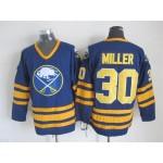 Men's Buffalo Sabres #30 Ryan Miller Navy Blue CCM Vintage Throwback Jersey