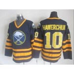 Men's Buffalo Sabres #10 Dale Hawerchuk Navy Blue CCM Vintage Throwback Jersey