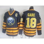 Men's Buffalo Sabres #18 Danny Gare Navy Blue CCM Vintage Throwback Jersey