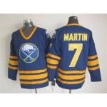 Men's Buffalo Sabres #7 Rick Martin Navy Blue CCM Vintage Throwback Jersey