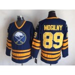 Men's Buffalo Sabres #89 Alexander Mogilny Navy Blue CCM Vintage Throwback Jersey