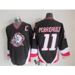 Men's Buffalo Sabres #11 Gilbert Perreault 1996-97 Black CCM Vintage Throwback Jersey