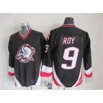 Men's Buffalo Sabres #9 Derek Roy 1996-97 Black CCM Vintage Throwback Jersey