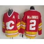 Men's Calgary Flames #2 Al MacInnis Red Throwback CCM Jersey