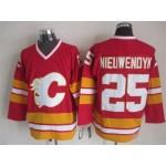 Men's Calgary Flames #25 Joe Nieuwendyk Red Throwback CCM Jersey