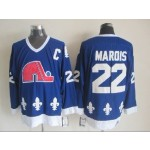 Men's Quebec Nordiques #22 Mario Marois Blue Throwback CCM Jersey