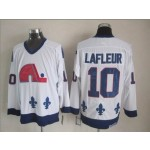 Men's Quebec Nordiques #10 Guy Lafleur White Throwback CCM Jersey