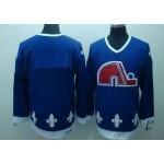 Men's Quebec Nordiques Blank Blue Throwback CCM Jersey