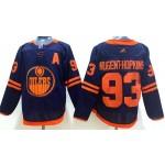 NHL Edmonton Oilers #93 Ryan Nugent-Hopkins Navy 50th Anniversary Adidas Jersey
