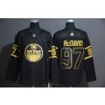 NHL Edmonton Oilers #97 Connor McDavid Black Gold Adidas Jersey